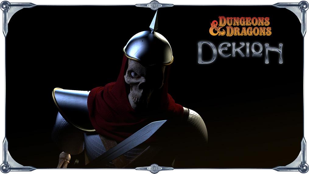 Ilustração Dekion - Caverna do dragão no blender 3D
